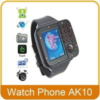"Unlocked Watch Cell Phone Ak10 Dual sim+ Bluetooth+FM+1.3""full touch screen+Camera+Quad band with Russian language"