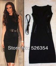 black knee length dress promotion