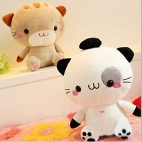 Free shipping 38cm super cute high quality Japan big face kitty, plush cat toy, two color options, 1pc retail, birthday gift