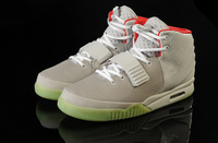 Brand Air Yeezy 2 Retro Kanye Skateboarding West Mens Athletic Basketball Shoes lighted bottom Sports Shoes Free shipping 47