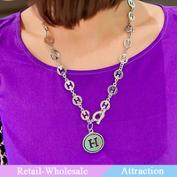 wholesale contracted H letters necklace for Christmas items