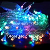 5 pieces Hot 100 LED 10M XMAS Party Wedding Tree Decoration String Light EU US UK Plug free shipping