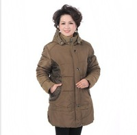 Middle-age For Women Wadded Jacket The Elderly Autumn-winter Outerwear Clothing Cotton-padded Thickening New 2013