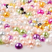Flat Back Pearl Bulk 1000PCS 3D Mix Color&Size 2mm 3mm 4mm 5mm 6mm 8mm 10mm Flatback Pearl beads DIY Phone Case DIY Design Deco