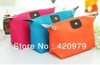 Free shipping fashion cosmetic bag waterproof lady toiletry storage pouch as travel accessories.