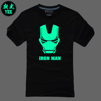 Luminous t-shirt 3 iron man neon short-sleeve t-shirt lovers tee