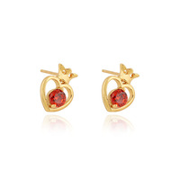 ERZ0222 Wholesale New  Fashion Jewelry 18K Gold Plated Inlay Zircon Crystal heart Stud Earrings ( min order $5 mixed order )