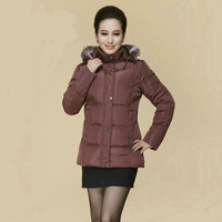 Winter quinquagenarian wadded jacket women's short design down cotton-padded jacket female plus size thickening