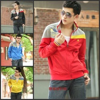 2013 autumn men's clothing fashion sports outerwear male casual stand collar jacket