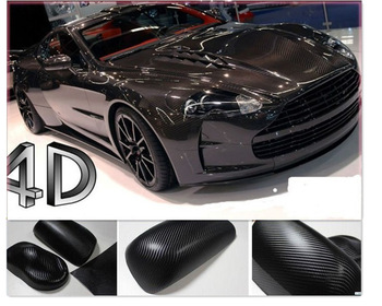 "2013 New hot sticker 12"" x 12"" Free Shipping 4D Carbon Fiber Vinyl Film Sticker 30*30cm For all car"