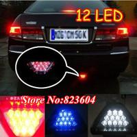 Free Shipping Car Rear Fog Flashing Safety Light F1 RED 12 LED Backup Reverse Bumper Brake