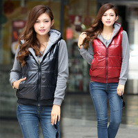 Plus size vest mm vest cardigan women's autumn and winter reversible outerwear