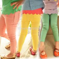 Drop Saling Clothing female child casual long trousers 2014 autumn baby legging pencil pants 2 - 7  (CC013N)