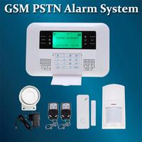 Wireless GSM / PSTN Dual alarm Home Auto-Dial Burglar Security Alarm System  DIY kit