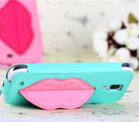 Fashion Pouch Leather PU Stand Case Cover For Samsung Galaxy SIV S4 GT-I9500  Wholesales Free Shipping