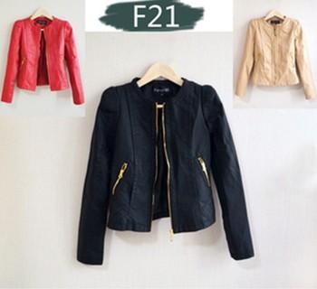 Бесплатная доставка! 2013 Faux женщин кожаную куртку Кожа Кожа PU является высокотехнологичным ...