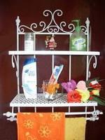 Fashion iron shelf bathroom jiaojia wall mount rack soap holder towel rack paper towel holder wall mount