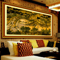 Print new arrival cross stitch big picture 2 meters series