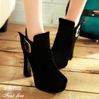 Ultra high heels boots single shoes ultra thick heel high heels metal buckle platform women's shoes fashion shoes 2013