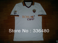New arrival 13/14 fans version Roma away white best quality soccer jersey, Roma soccer jerseys,Serie A size:S-XL
