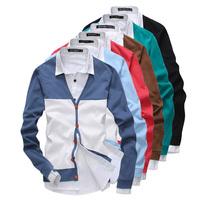 Free shipping fashion men's new coat. Splicing sweater. Men leisure knitting cardigan. 7 color size M - XXL