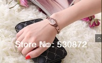 Hot !! Free shippng High qulity  tungsten steel  rhinestone table fashion  rose gold women's waterproof quartz watch