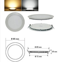 6W Dimmable CREE LED Recessed Ceiling Panel Down Lights Bulb