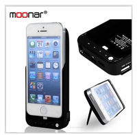 Top quality rechargeable power bank 4200MAH External Backup Battery Charger Case for iPhone5