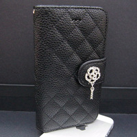 Luxury Diamond Flip Leather Case with Credit Card Slot Holder Stand for Apple iPhone 5 5G Fashion Cover for iPhone5