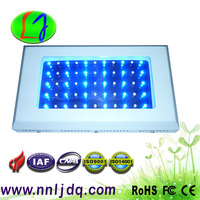 Free shipping 2pcs/ lot  hot dimmable 120w 55*3w coral reef aquarium white shell 10000K-20000K 27 White and 460nm 28 Blue
