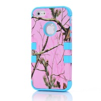 BLUE FOR iPhone 5G DROP DEFENDER HOT PINK Real CAMO MOSSY TREE OAK HYBRID CASE COVER