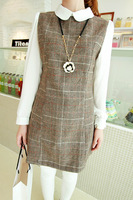 2013 autumn women's small elegant ladies all-match c939 plaid long-sleeve dress