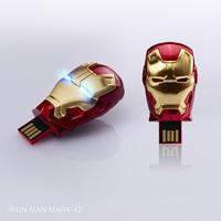 Free Shipping Fashion Ironman 1-32GB USB 2.0 Flash Memory Stick Drive Thumb/Car/Pen Gift