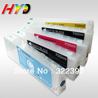 5 pcs/lot 700ml refillable ink cartridges for Epson Stylus Pro 7700 9700 ink cartridges with resettable chips