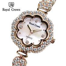 Royal crown watches female bracelet watch rhinestone platinum fashion lady 3816