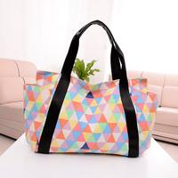 Miss Yes Hot lady women's Colorful Beach handbag Canvas Casual shoulder bag portable Large fancy lady bag Multi-function mom bag
