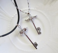 F06758 New 2013 Cross Necklace 925 Silver Plated Angel Wings Couple Necklaces & Pendants Jewelry + Free Shipping