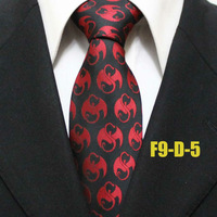 New Arrival Mens Popular Novelty Pattern Black With Red Ties For Men Business Formal Party Neckties For Man Gravatas 9CM F9-D-5