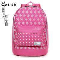School bag backpack female preppy style backpack pink travel laptop bag