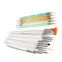 W7Tn Hot Promotion 20pcs Nail Art Design Set Dotting Painting Drawing Polish Brush Pen Tools