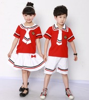 Primary school students child costume school uniform kindergarten park service summer set 808