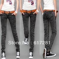 Free shipping cotton fashion casual dress autumn-winter women snow elasticity Print Long jeans feet pants pencil pants trousers