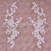 2014 white corded lace decoration applique wedding dress fabric accessories clothing laciness letze