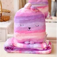 2013 practical comfortable warm lunch woolen blanket, rabbit pillow blanket cushion free shipping 1 * 1.8m