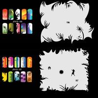 Airbrush Nail Art Stencil Set 10,  20 Sheet Stencils Set with an Average of 20 Different Nail Art Design Patterns