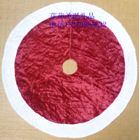 Christmas supplies christmas tree decoration quality plush Wine red christmas tree skirt Christmas tree skirt