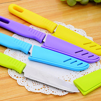 3585 Min. order $10 (mix order) Free shipping New Arrival candy color portable utlity fruit knife stainless steel 4 colors