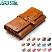 Retro oil wax cowhide wallet,women long section of the Korean version,large capacity women wallet,genuine leather wallet,BW1305
