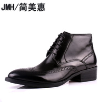 Jmh middot . men's high leather pointed toe carved formal leather commercial
