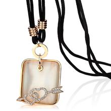 Card fashion crystal necklace female – eye design long necklace cupid